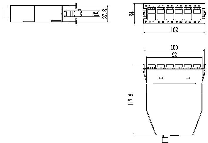 12 fiber MPO Cassette Structure