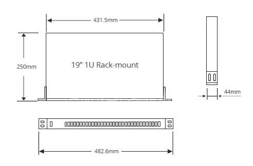 1U rack mount